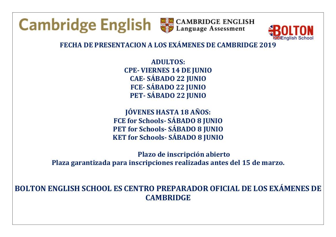 fechas-cambridge-2019